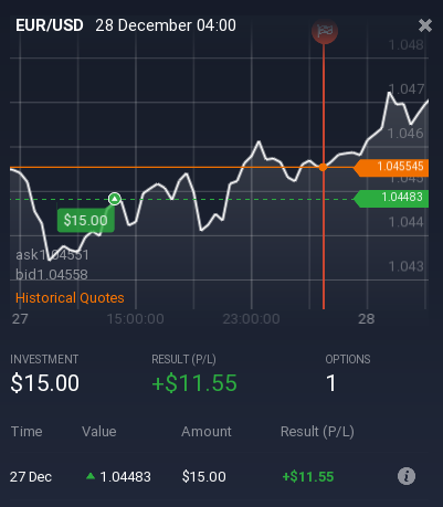 first trade IQOption