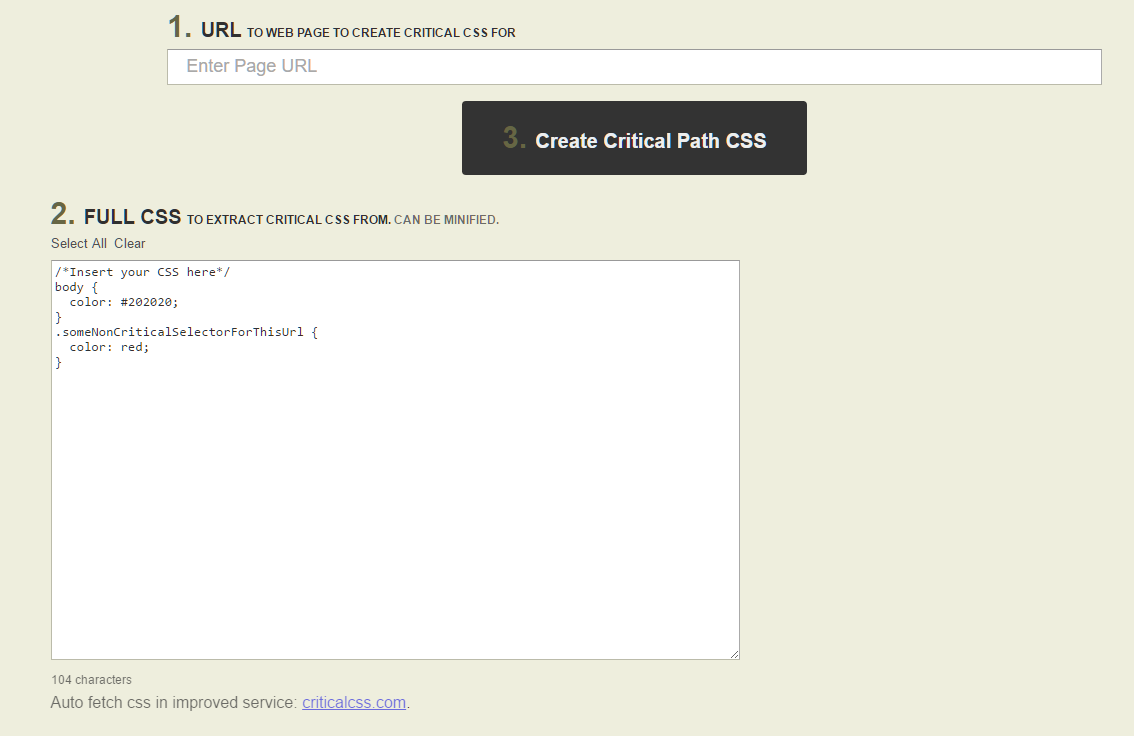 Critical Path for CSS